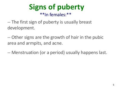 Signs of Puberty